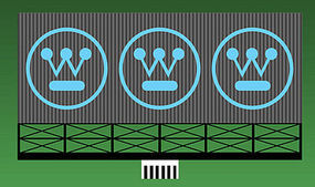 Micro-Structures Westinghouse Animated Neon Billboard HO Scale Model Railroad Sign #881551