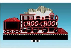 Micro-Structures Chattanooga Choo Choo Animated Neon Billboard HO Scale Model Railroad Sign #881601