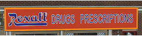 Micro-Structures REXALL DRUGS PRESCRIPTION O/HO Scale Model Railroad Billboard #882201