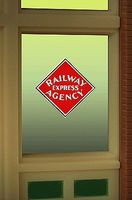 Micro-Structures Railway Express Agency Flashing Neon Window Sign HO Scale Model Railroad Sign #8870