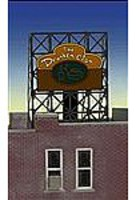 Micro-Structures DRUNKEN CLAM WINDOW SIGN HO Scale Model Railroad Billboard Sign #8885