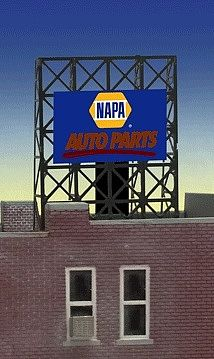 Micro Structures Napa Auto Parts Underlined Logo Flashing Neon Sign