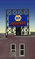 Micro-Structures NAPA Auto Parts Underlined Logo Flashing Neon Sign HO Scale Model Railroad Sign #8895