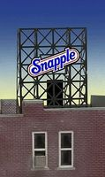 Micro-Structures Snapple Flashing Neon Window Sign HO Scale Model Railroad Sign #8905