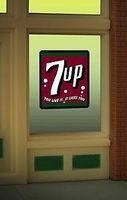Animated Window Sign 7UP HO Scale Model Railroad Sign #8945