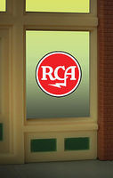 Micro-Structures RCA Flashing Neon Window Sign HO Model Railroad Sign #9000