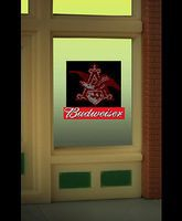 Micro-Structures Eagle (Budweiser) Animated Neon Window Sign HO Scale Model Railroad Building Accessory #9015