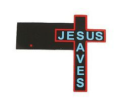 Micro-Structures Jesus Saves Cross Large Animated Neon Building Sign HO Scale Model Railroad Sign #9071