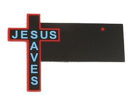 Micro-Structures Jesus Saves Cross Small Animated Neon Billboard Kit Model Railroad Accessory #9072