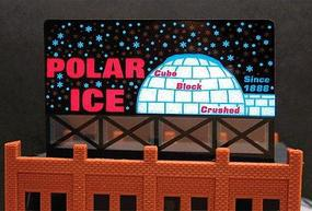 Micro-Structures Polar Ice Medium Animated Neon Billboard Kit Model Railroad Accessory #9682