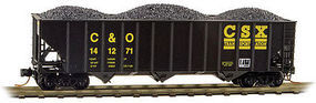 Micro-Trains 100-Ton 3-Bay Ribside Open Hopper CSX C&O #141271 N Scale Model Train Freight Car #10800301