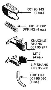 Micro-Trains Truck Mount Couplers - T Shank .225 (Short) (4) N Scale Model Train Coupler #130012