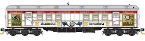 Micro-Trains Pullman Heavyweight 60 Railroad Post Office - Ready to Run Ringling Bros. and Barnum & Bailey 1 (Advertising Car, white, red, gold) - N-Scale