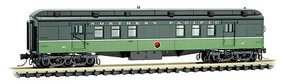 Micro-Trains Pullman Heavyweight 60' Railroad Post Office Ready to Run Northern Pacific 90 (Loewy 2-Tone Green) N-Scale