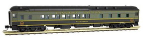 Micro-Trains Pullman Heavyweight 10-1-2 Sleeper - Ready to Run Canadian NationalLake Nipigon (green, black) - N-Scale