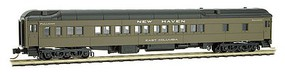 Micro-Trains Pullman Plan #3410 Heavyweight 12-1 Sleeper - Ready to Run New Haven East Columbia (Pullman Green, black) - N-Scale