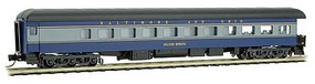 Micro-Trains Heavyweight Smooth-Side Business Car Observation w/Balloon Roof - Ready to Run Baltimore & Ohio Silver Spring (blue, gray, black) - N-Scale