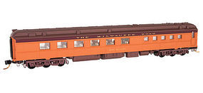 Micro-Trains Heavyweight Diner Milwaukee Road #5143 N Scale Model Train Passenger Car #14600120