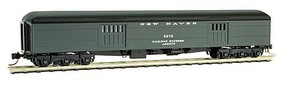 Micro-Trains Pullman Heavyweight 70 Baggage Car w/Balloon Roof - Ready to Run New Haven #5575 (Pullman Green, black) - N-Scale