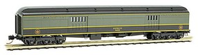Micro-Trains Pullman Heavyweight 70 Baggage Car - Ready to Run Canadian National #8696 (green, black, yellow) - N-Scale