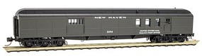Micro-Trains 70 Heavyweight Baggage-Mail - Ready to Run New Haven #3294 (Pullman Green) - N-Scale