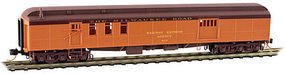 Micro-Trains 70 Heavyweight Baggage-Mail Milwaukee Road #817 N Scale Model Train Passenger Car #14800120