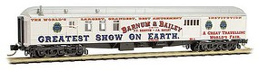 Micro-Trains 70 Heavyweight Baggage-Mail - Ready to Run Ringling Bros and Barnum & Bailey (Advertising Car, white, red, blue) - N-Scale