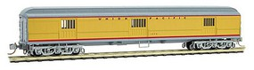 Micro-Trains ACF 70 Heavyweight Horse & Express Baggage Car - Ready to Run Union Pacific #1373 (Armour Yellow, gray, red) - N-Scale