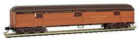 Micro-Trains ACF 70 Heavyweight Horse & Express Baggage Car - Ready to Run Milwaukee Road (orange, maroon, brown) - N-Scale