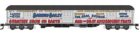 Micro-Trains ACF 70 Heavyweight Horse & Express Baggage Car - Ready to Run Ringling Bros. 1 (white, red, blue, gold, Advertising Car 6) - N-Scale
