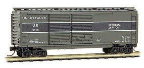 Micro-Trains 40' Double-Door Boxcar Ready to Run Union Pacific 9218 (Two-Tone Gray) N-Scale