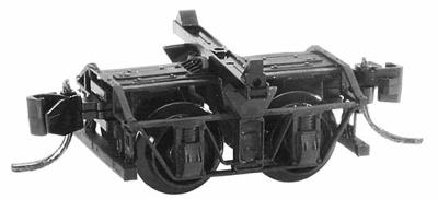 Micro Trains Line Freight Car Trucks 1 Pair -- Disconnect Log Car w/Short Extended Couplers - N-Scale (2)