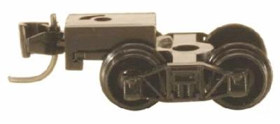 Micro Trains Line Arch Bar Trucks - With Short Extended Couplers (Black) -- N Scale Model Train Truck -- #410001