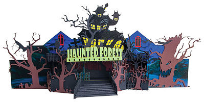 Micro Trains Line Halloween Forest Circus Ride - Decorated Kit -- N Scale Model Train Building -- #49990501