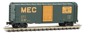 Micro-Trains 40 Single-Door Boxcar - Ready to Run Maine Central #8217 (green, Harvest Gold, Large MEC & Rectangle Logo) - Z-Scale