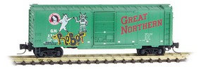 Micro-Trains 40 Box GN Weathered - Z-Scale