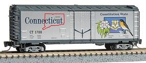 Micro-Trains 40 Plug-Door Boxcar 50-State Car Connecticut #1788 Z Scale Model Train Freight Car #50200538