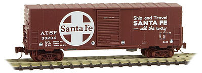 Micro Trains Line 40' Single Door Boxcar ATSF #33294 -- Z Scale Model Train Freight Car -- #50300131