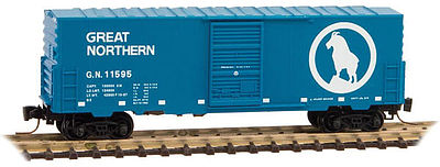 Micro Trains Line 40' Single Door Boxcar Great Northern #11595 -- Z Scale Model Train Freight Car -- #50300141