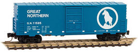 Micro-Trains 40 Single Door Boxcar Great Northern #11595 Z Scale Model Train Freight Car #50300141