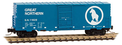 Micro Trains Line 40' Single Door Boxcar Great Northern #11620 -- Z Scale Model Train Freight Car -- #50300142