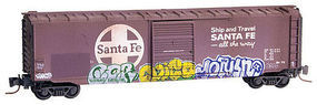 Micro-Trains 50 Single-Door Boxcar Santa Fe Z Scale Model Train Freight Car #50544310