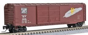 Micro-Trains Pullman-Standard 50 Double-Door Boxcar Western Pacific #3008 (Western Pacific Brown w/Feather) - Z-Scale