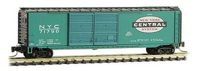 Micro-Trains 50 Double-Door Boxcar - Ready to Run New York Central 71790 (Jade Green, black, Large System Logo) - Z-Scale