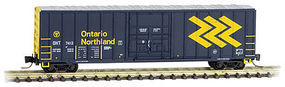 Micro-Trains 50 Rib-Side Plug-Door Boxcar Ontario Northland 7412 Z Scale Model Train Freight Car #51100261