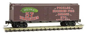 Micro-Trains 40 Wood-Sheathed Ice Reefer - Ready to Run Heinz HPRL 463 (Boxcar Red, red, green, Pickles, Heinz Series 3) - Z-Scale