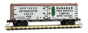 Micro-Trains 40' Wood-Sheathed Ice Reefer Ready to Run Northern Refrigerator Car Company 6399 (Banana Service, white, Boxcar Red) Z-Scale