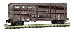 Micro-Trains 40 Despatch Stock Car - Ready to Run Western Pacific #76031 (Boxcar Red) - Z-Scale