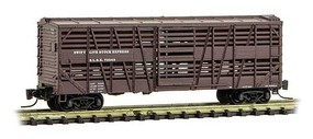 Micro-Trains 40' Despatch Stock Car Ready to Run Swift Livestock Express 72243 (Boxcar Red) Z-Scale