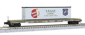 Micro-Trains 60 Steel Flatcar w/40 Container Load USAAC Z Scale Model Train Freight Car #52400103